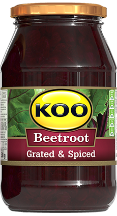 KOO Beetroot Grated and Spiced 405g