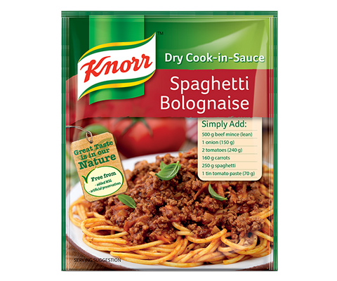 Knorr Spaghetti Bolognaise Dry Cook in Sauce