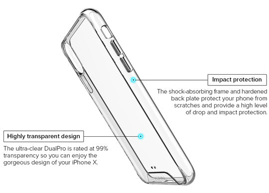 iPhone X Casense DualPro Clear Case