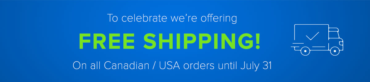 Free Shipping all Month!