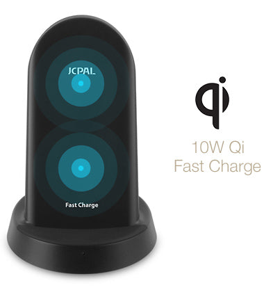 The Wireless Fast Charge Stand charges at up to 10W