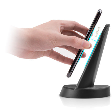 The Wireless Fast Charge Stand allows charging at up to 8mm distance