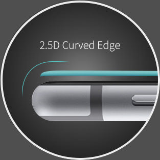 2.5D curved edge helps reduce chips and cracks