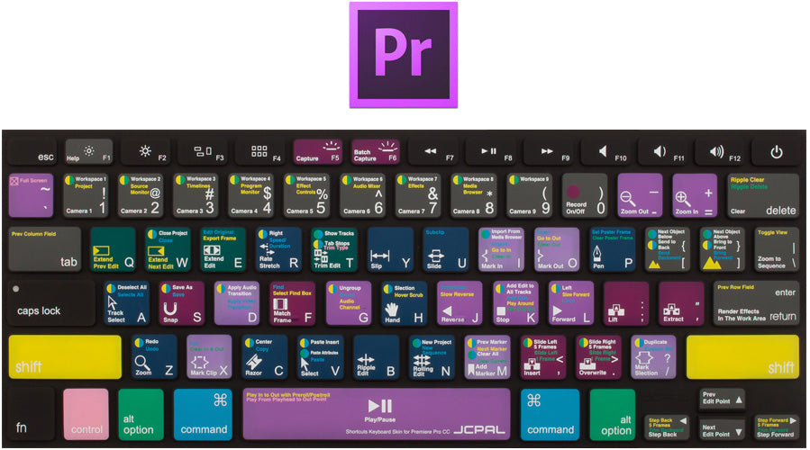 JCPal VerSkin Shortcut Keyboard Protector for Adobe Premiere