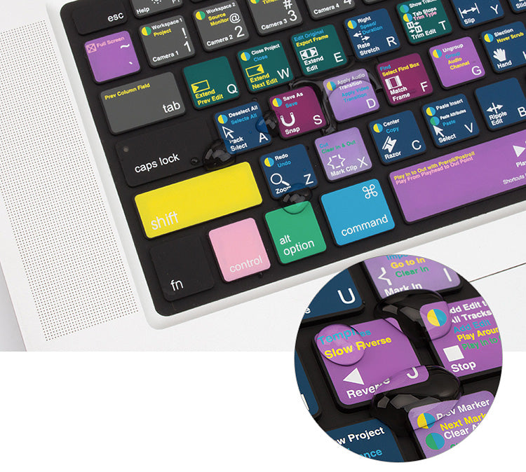 JCPal VerSkin Keyboard Protectors featuring popular application shortcut guides