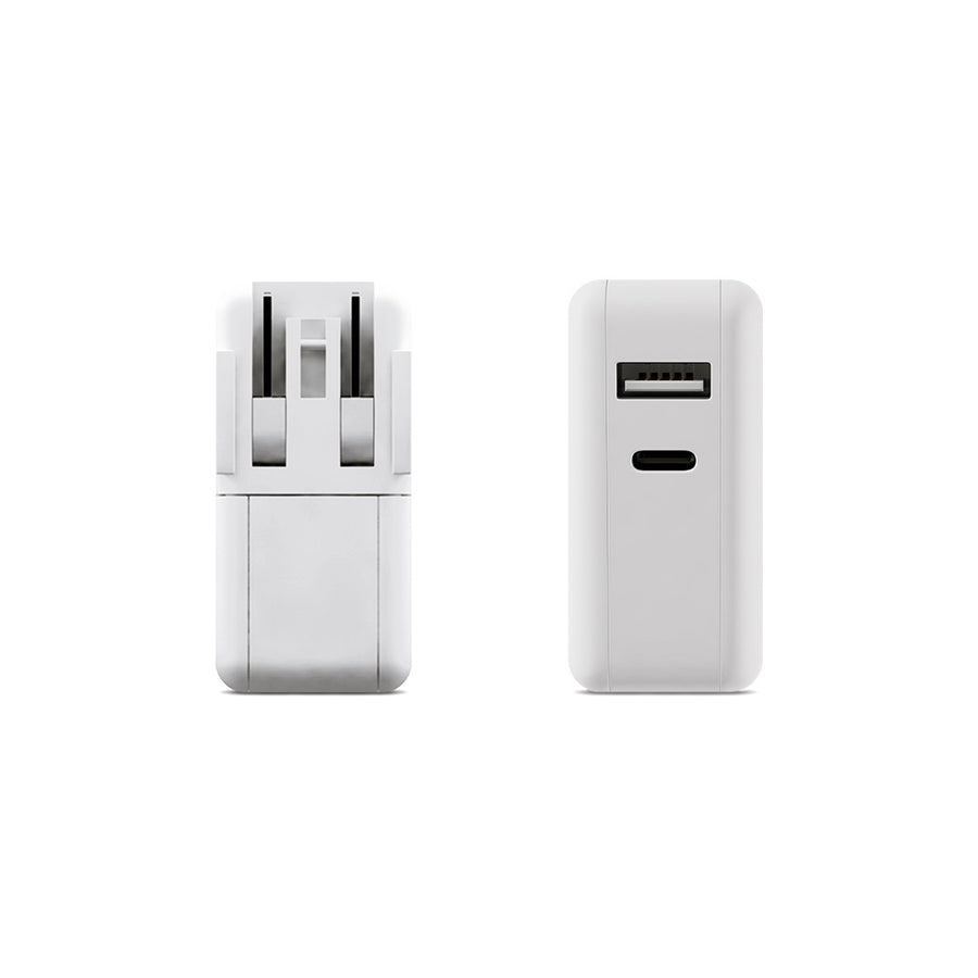 USB-C PD Travel Charger with USB Port