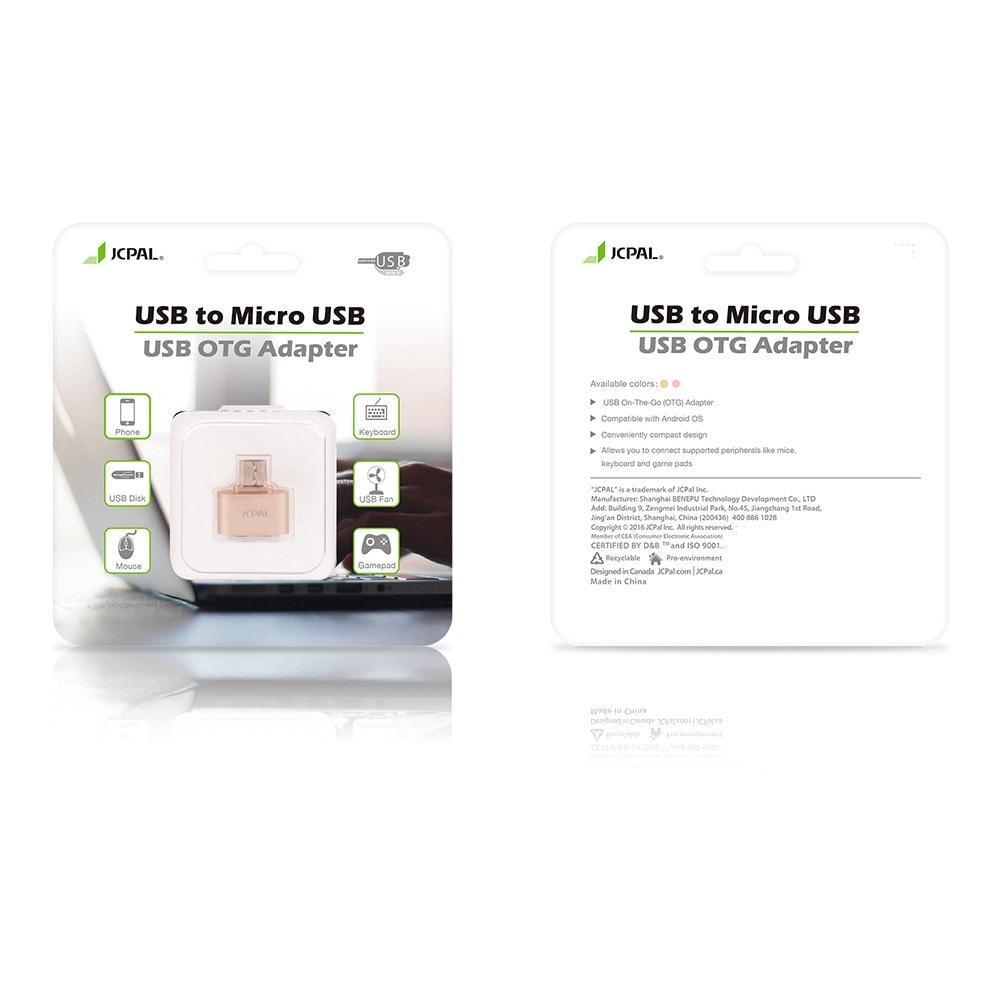 JCPal Accessories Micro USB to USB OTG Adapter