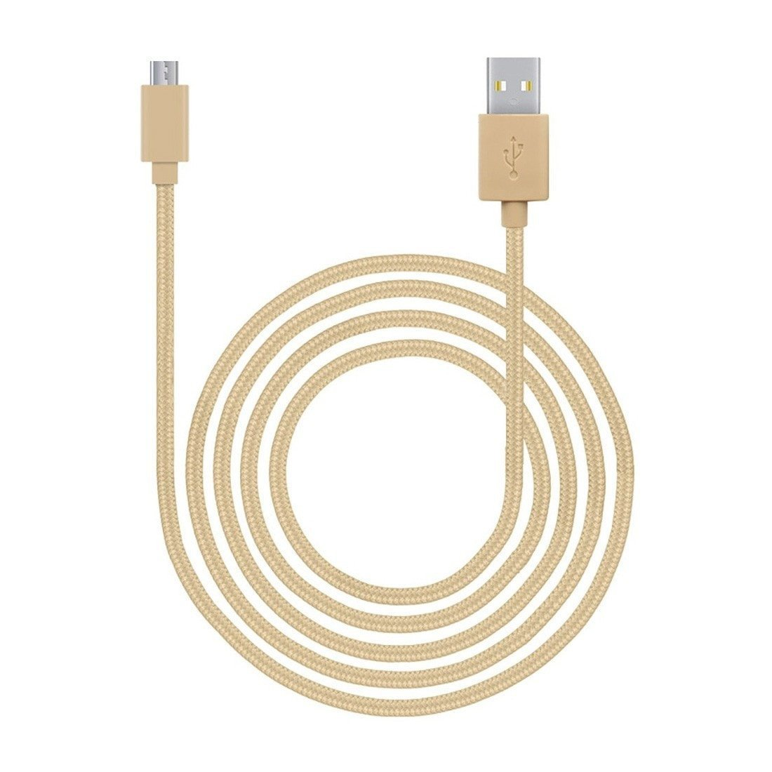 JCPal Cable LiNX Micro USB to USB Braided Cable Gold