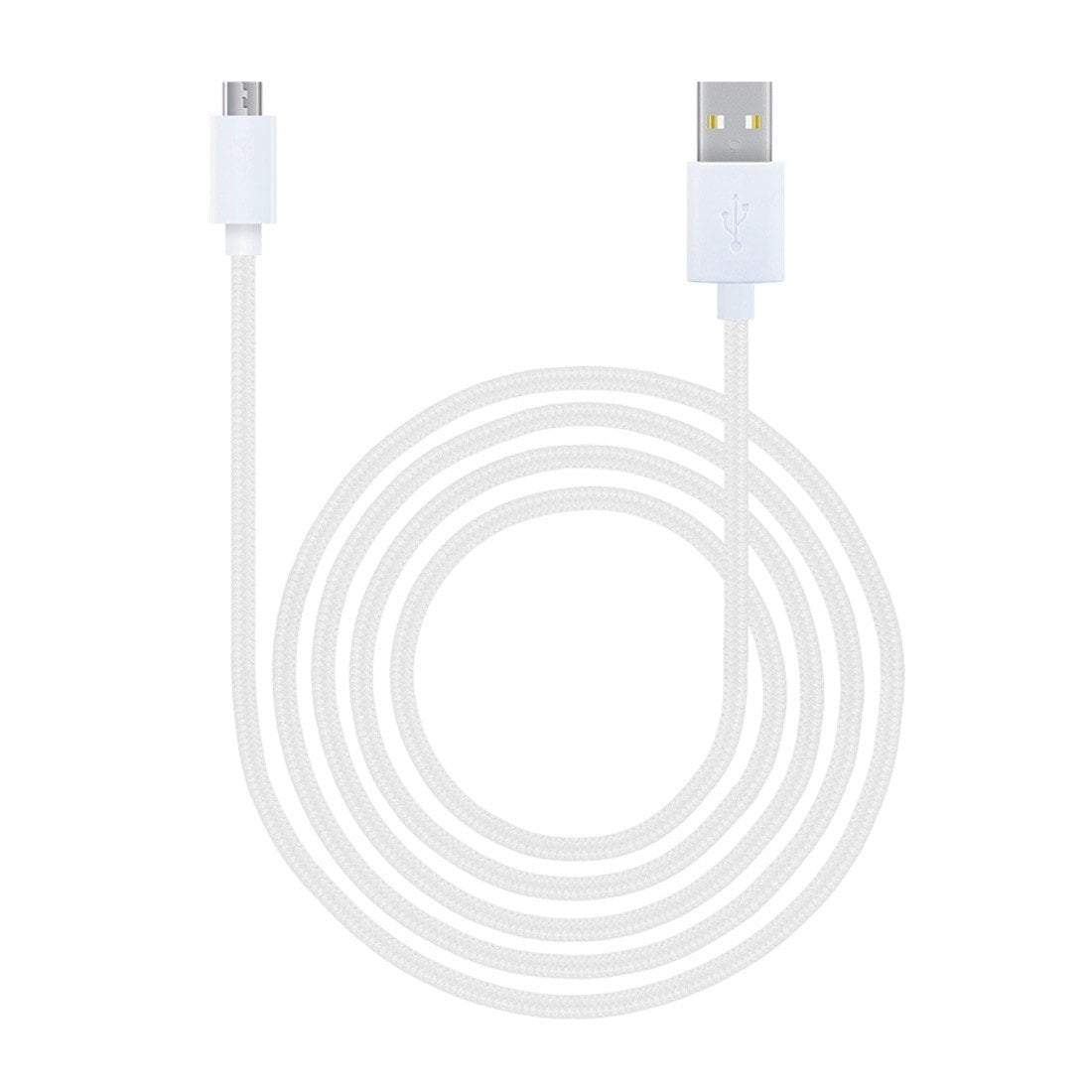JCPal Cable LiNX Micro USB to USB Braided Cable White
