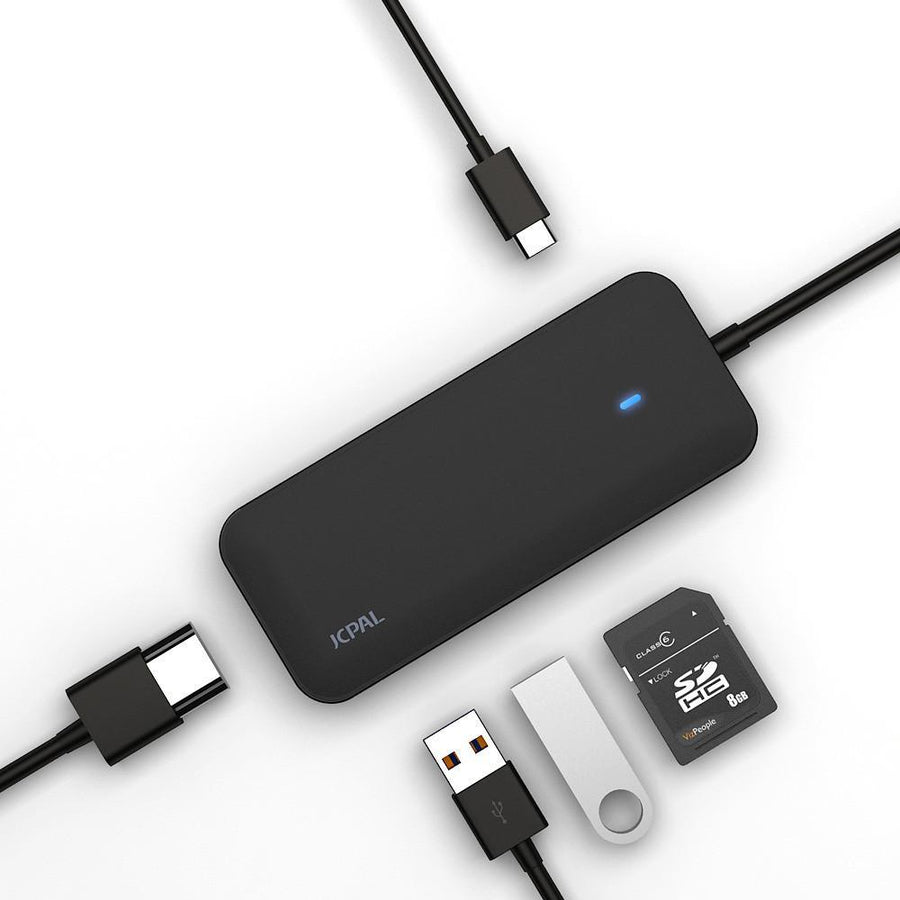 JCPal Cable USB-C Multiport Adapter Black