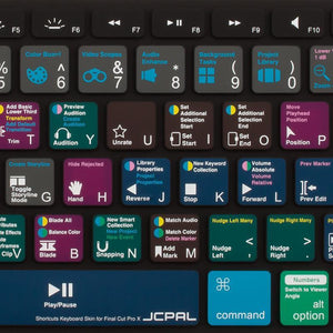 JCPal Keyboard Protector VerSkin Final Cut Pro X Shortcut Keyboard Protector (US-Layout)
