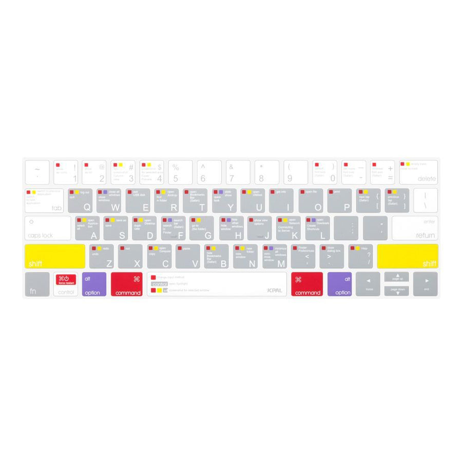 JCPal Keyboard Protector VerSkin MacOS Shortcut Keyboard Protector for 2016 MacBook Pro with Touch Bar