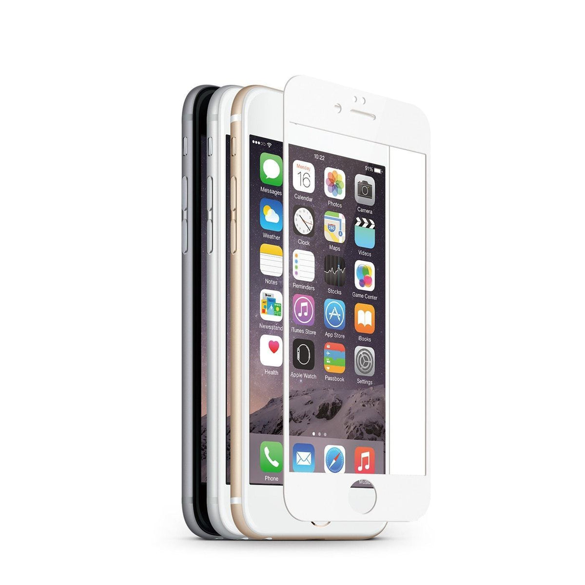 JCPal Screen Protector Preserver Classic Glass Screen Protector for iPhone 6 and 6 Plus iPhone 6 / 0.33mm / White