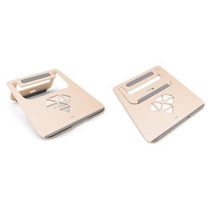 Folding Aluminum Laptop Stand - Gold & Rose Gold