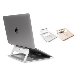 JCPal Unavailable Folding Aluminum Laptop Stand - Silver & Rose Gold