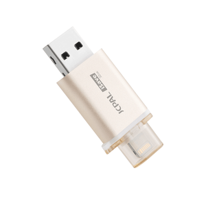 JCPal Unavailable iSave Flash Drive with Lightning Connector 32GB Gold