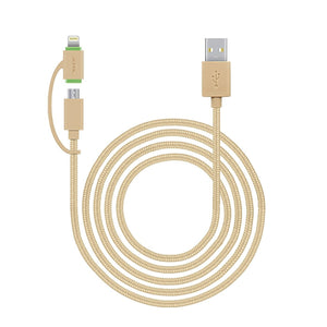 JCPal Unavailable LiNX Lightning / Micro USB to USB Multi-Function Braided Cable