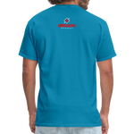 Alpha Rooster T Shirt - turquoise