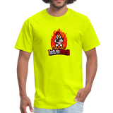Alpha Rooster T Shirt - safety green