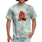 Alpha Rooster T Shirt - military green tie dye