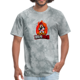 Alpha Rooster T Shirt - grey tie dye
