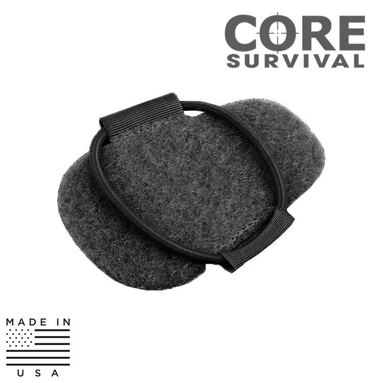 CORE Survival HEL-STAR HSR Helmet Mounting Velcro® Patches - 10 Pack Strobe / Marker Lights TAN