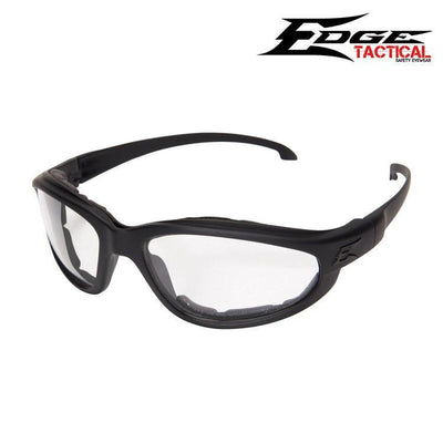 Edge Tactical Eyewear Safety Glasses MATTE BLACK / CLEAR Edge Tactical Eyewear Falcon Thin Temple Safety Glasses w/ Foam Gasket Kit