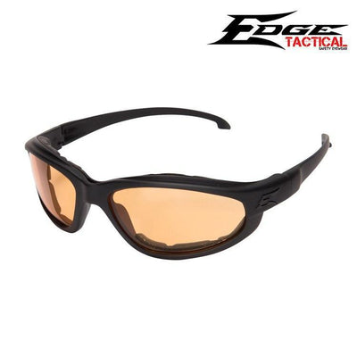 Edge Tactical Eyewear Safety Glasses MATTE BLACK / TIGERS EYE Edge Tactical Eyewear Falcon Thin Temple Safety Glasses w/ Foam Gasket Kit