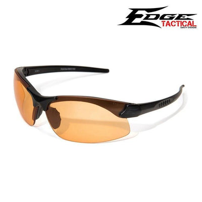 Edge Tactical Eyewear Safety Glasses MATTE BLACK / TIGERS EYE Edge Tactical Eyewear Sharp Edge Safety Glasses