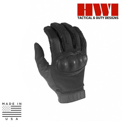 HWI Gear Tactical / Duty Gloves BLACK / X-SMALL HWI Gear HKTG100B/HKTG200B/HKTG300B Hard Knuckle Tactical Combat Gloves