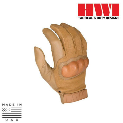 HWI Gear Tactical / Duty Gloves COYOTE BROWN / X-SMALL HWI Gear HKTG100B/HKTG200B/HKTG300B Hard Knuckle Tactical Combat Gloves