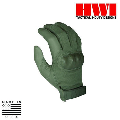 HWI Gear Tactical / Duty Gloves FOLIAGE GREEN / X-SMALL HWI Gear HKTG100B/HKTG200B/HKTG300B Hard Knuckle Tactical Combat Gloves