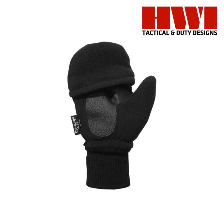 HWI Gear Tactical / Duty Gloves BLACK / SMALL HWI Gear FMG100 3/4 Finger Fleece Insulated Knit Gloves