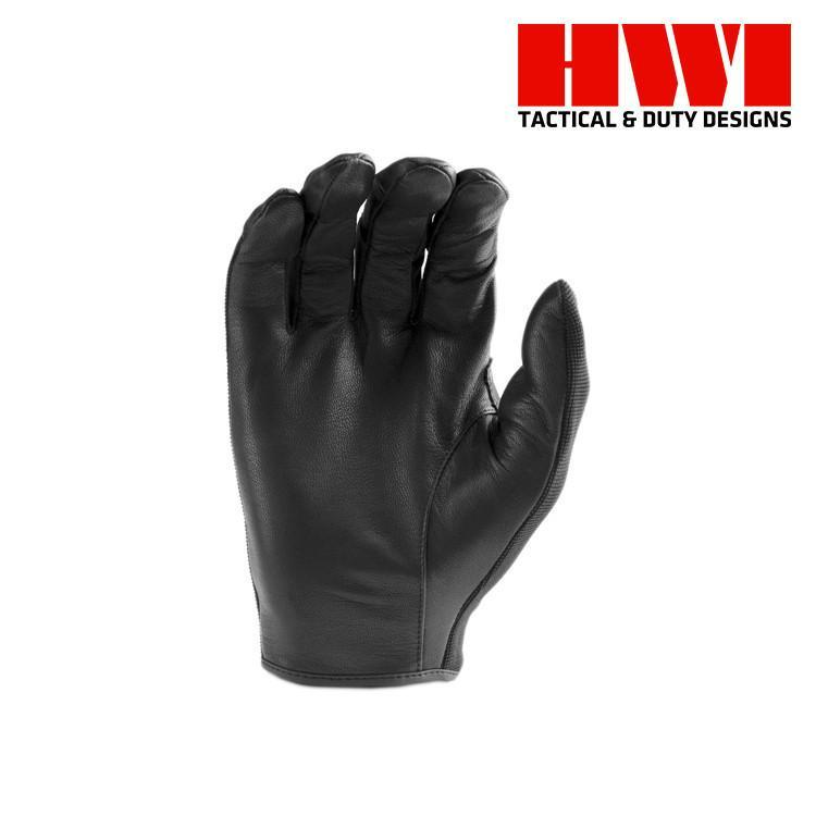 HWI Gear Tactical / Duty Gloves BLACK / XX-SMALL HWI Gear ULD100 Unlined Spandex Knit Leather Duty Gloves