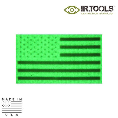 IR Tools Garrison IR Patches IR.Tools™ Infrared IR US Flag Forward Non-Covert Patch - Reflective / Garrison