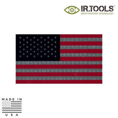 IR Tools Garrison IR Patches RED / WHITE / BLUE IR.Tools™ Infrared IR US Flag Forward Non-Covert Patch - Reflective / Garrison