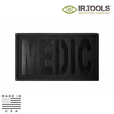 IR Tools Hybrid IR Patches BLACK IR.Tools™ Infrared IR MEDIC Covert Field Patch - Hybrid / Fabric
