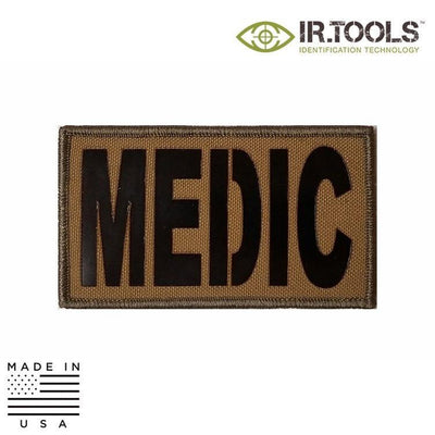 IR Tools Hybrid IR Patches COYOTE BROWN IR.Tools™ Infrared IR MEDIC Covert Field Patch - Hybrid / Fabric
