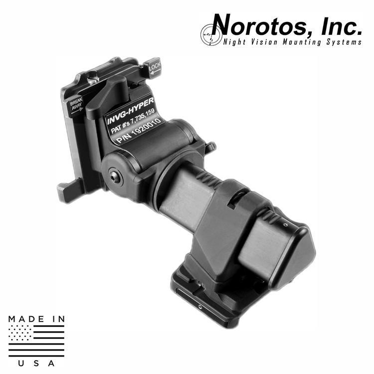 Norotos NVG Helmet Mounts / Shrouds BLACK / DOVETAIL Norotos 1920010 INVG Night Vision Hyper Helmet Mount