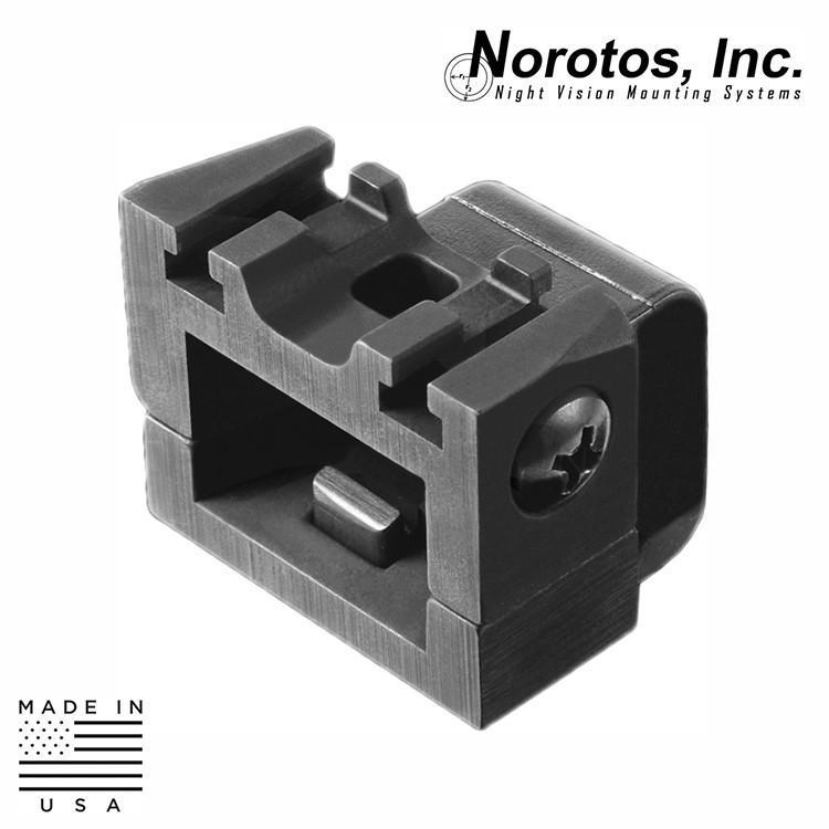 Norotos NVG Helmet Mounts / Shrouds BLACK Norotos 1920004 INVG Hyper-Quick Change Horn Adapter