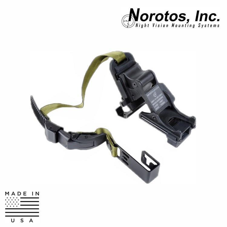 Norotos NVG Helmet Mounts / Shrouds Norotos 1555010 Standard Rugged NVG Helmet Mount w/ Strap Assembly