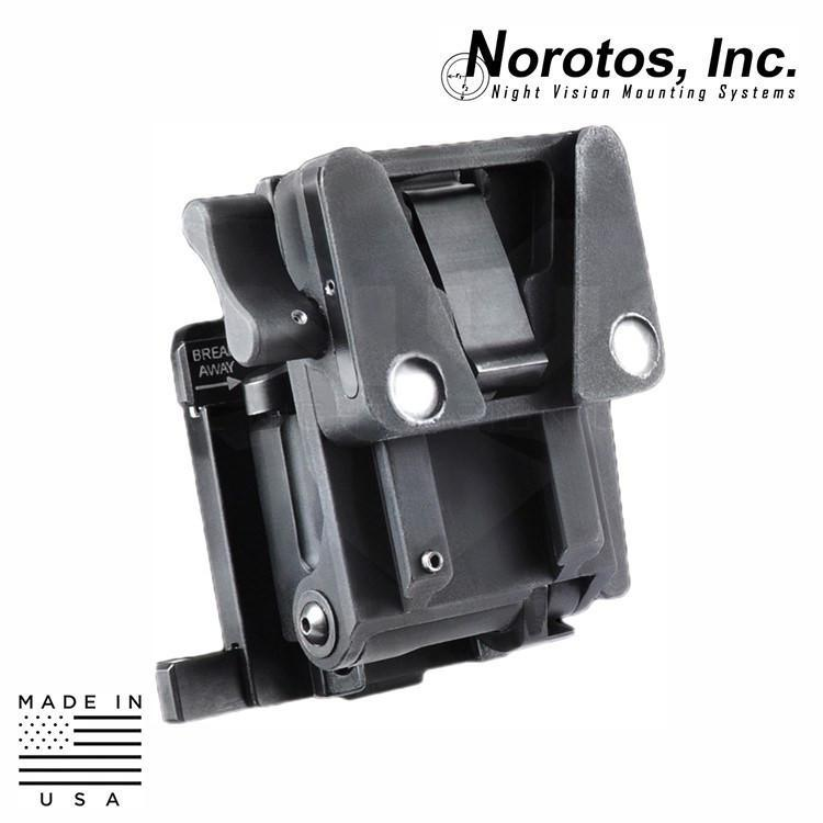 Norotos NVG Helmet Mounts / Shrouds BLACK / DOVETAIL Norotos 1962010 Lo-Sto Force-to-Overcome NVG Helmet Mount