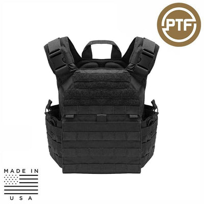 Protect The Force Plate Carriers BLACK PTF Force Defender Series Rifle Plate Carrier - Elite Pro