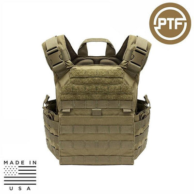Protect The Force Plate Carriers COYOTE TAN PTF Force Defender Series Rifle Plate Carrier - Elite Pro