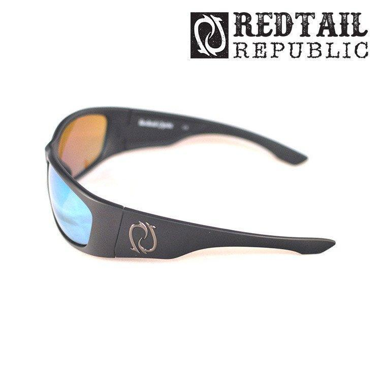 Redtail Republic Sunglasses BLACK MATTE / GREEN MIRROR Redtail Optix LAG-00-AGGP Laguna UV Polarized Sunglasses