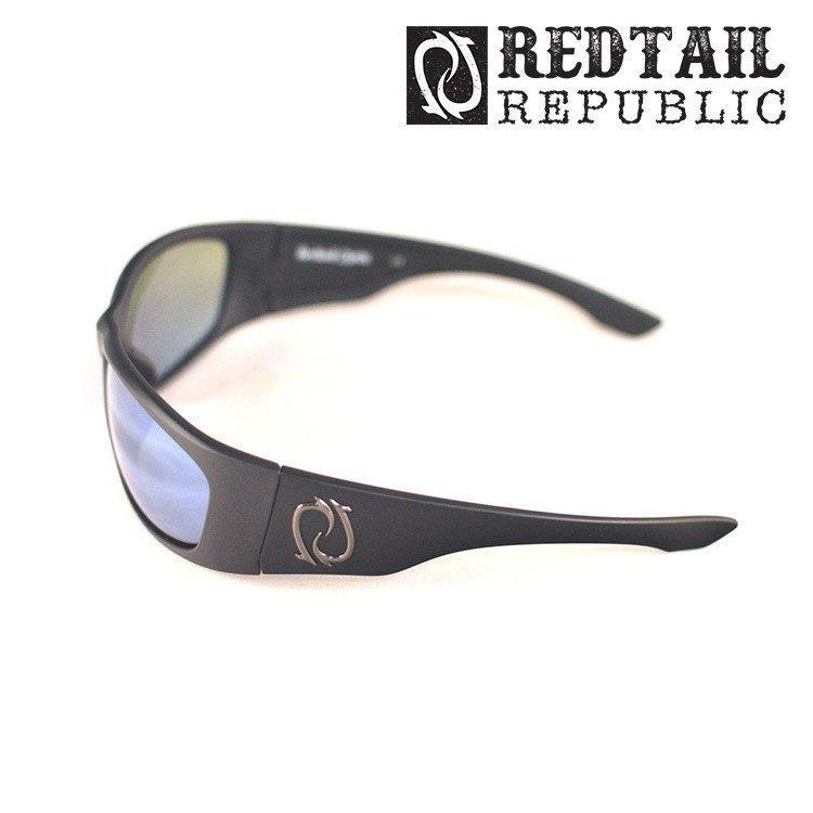 Redtail Republic Sunglasses BLACK MATTE / BLUE MIRROR Redtail Optix LAG-00-GGBP Laguna UV Polarized Sunglasses