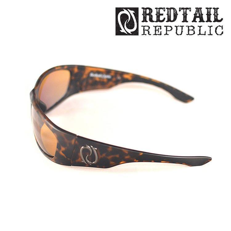 Redtail Republic Sunglasses TORTOISE / AMBER Redtail Optix LAG-10-AGNP Laguna UV Polarized Sunglasses