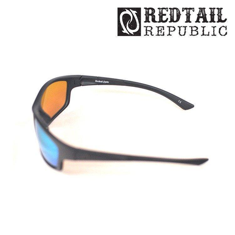 Redtail Republic Sunglasses BLACK MATTE / GREEN MIRROR Redtail Optix SAB-00-AGGP Sabine UV Polarized Sunglasses