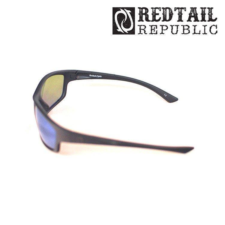 Redtail Republic Sunglasses BLACK MATTE / BLUE MIRROR Redtail Optix SAB-00-GGBP Sabine UV Polarized Sunglasses