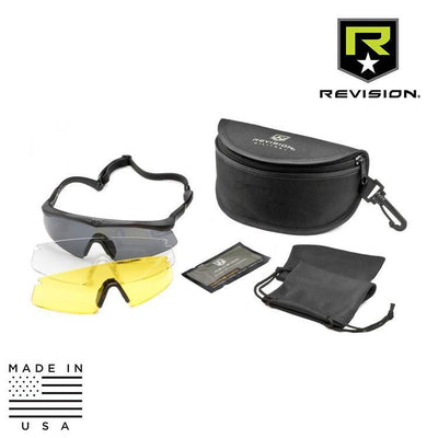 Revision Military Safety Eyewear BLACK / LARGE / CLEAR / SOLAR / YELLOW Revision Military Sawfly System - Deluxe Kit